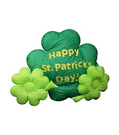4' Inflatable Lighted St. Patrick's Day Shamrock Yard Decoration