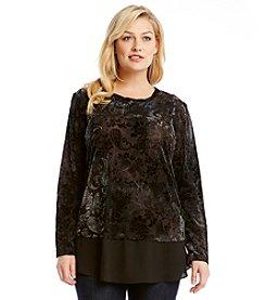 Karen Kane® Plus Size Printed Velvet Top