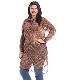 Democracy Plus Size Paisley Print Top
