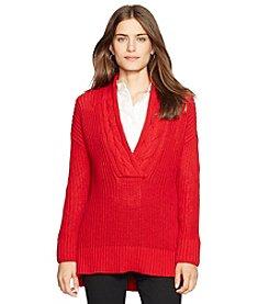Lauren Ralph Lauren® Petites' Ribbed Cotton Sweater