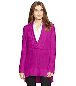Lauren Ralph Lauren® Petites' Cotton V-Neck Sweater