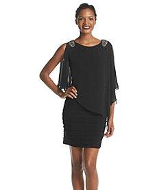 Xscape Chiffon Overlay Dress