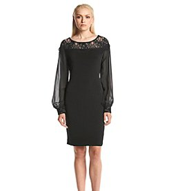 Ivanka Trump® Lace Crepe Shift Dress