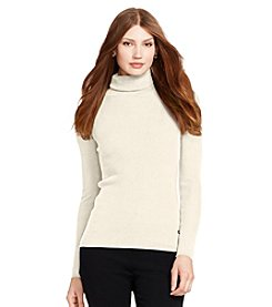 Lauren Ralph Lauren® Solid Cotton Turtleneck