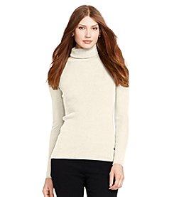 Lauren Ralph Lauren® Solid Cotton Turtleneck