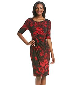 Connected® Petites' Side Ruched Floral Dress