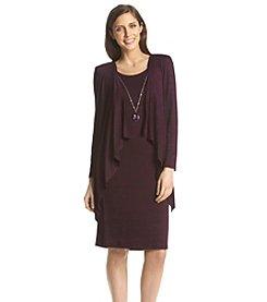 R&M Richards® Marled Cascading Jacket Dress