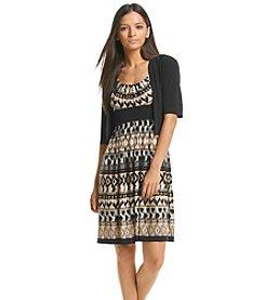 R&M Richards® Petites' Geo Print Jacket Dress
