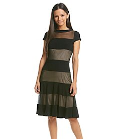 R&M Richards Petites' Illusion Stripe Dress