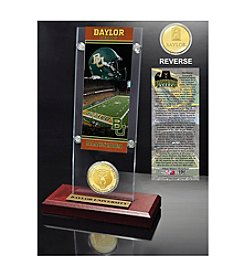 NCAA® Baylor University Ticket & Bronze Coin Desktop Acrylic