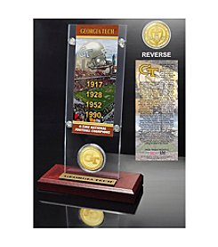 NCAA® Georgia Tech University 4-Time National Champions Ticket & Bronze Coin Desktop Acrylic