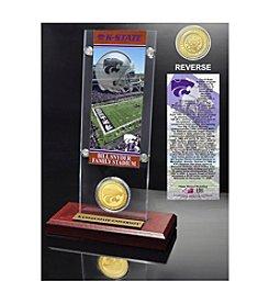 NCAA® Kansas State University Ticket & Bronze Coin Desktop Acrylic