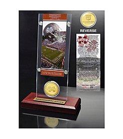 NCAA® Mississippi State University Ticket & Bronze Coin Acrylic Desktop