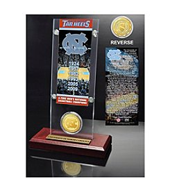 NCAA® University of North Carolina 6-Time National Champions Ticket & Bronze Coin Desktop Acrylic