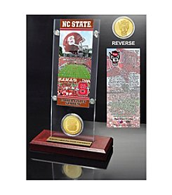 NCAA® North Carolina State University Ticket & Bronze Coin Desktop Acrylic