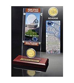 NCAA® Penn State University 2-Time National Champions Ticket & Bronze Coin Desktop Acrylic