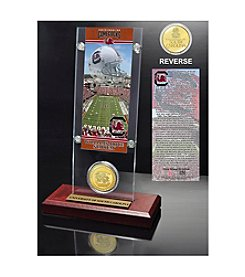 NCAA® University of South Carolina Ticket & Bronze Coin Desktop Acrylic