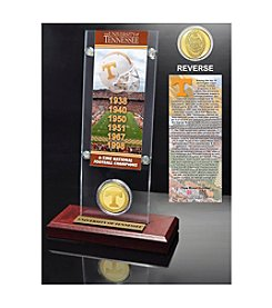 NCAA® University of Tennessee 6-Time National Champions Ticket & Bronze Coin Desktop Acrylic