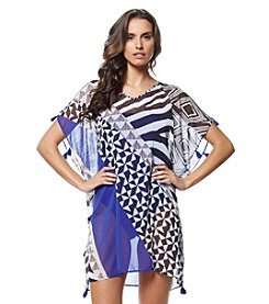 Bleu|Rod Beattie® Mix Print Printed Tunic Cover-Up