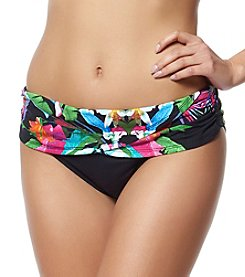 Bleu|Rod Beattie® Floral Sarong Hipster Swim Bottoms