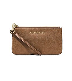 MICHAEL Michael Kors® Medium Metallic Leather Wristlet