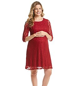 Three Seasons Maternity™ 3/4 Sleeve Lace Dress