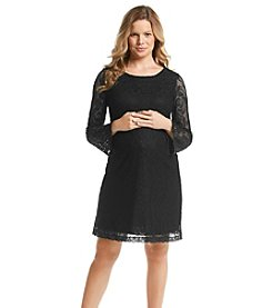 Three Seasons Maternity™ Long Bell Sleeve Lace Dress