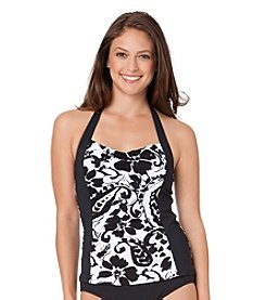Anne Cole® Antigua Shirred Halter Tankini
