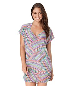 Anne Cole® Rainbow Arches Mesh V-Neck Cover Up