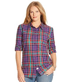 Lauren Ralph Lauren® Plus Size Plaid Herringbone Workshirt