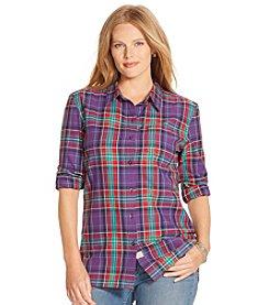 Lauren Ralph Lauren® Plus Size Plaid Herringbone Workshirt