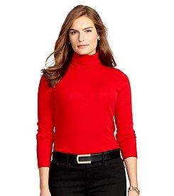 Lauren Ralph Lauren® Plus Size Ribbed Cotton Turtleneck