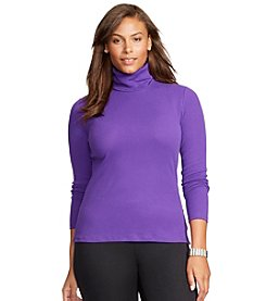 Lauren Ralph Lauren® Plus Size Cotton Turtleneck Shirt