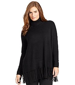 Lauren Ralph Lauren® Plus Size Ribbed Cotton Sweater