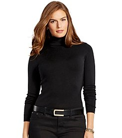 Lauren Ralph Lauren® Plus Size Silk-Cotton Turtleneck