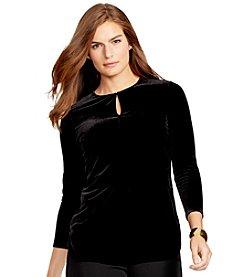Lauren Ralph Lauren® Plus Size Keyhole Jersey Top