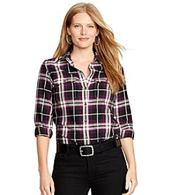 Lauren Ralph Lauren® Plus Size Plaid Twill Workshirt