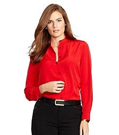 Lauren Ralph Lauren® Plus Size Crepe Shirt