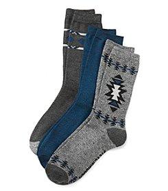 Steve Madden 3-Pack Printed Crew Socks