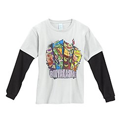 Nickelodeon® Boys' 8-20 Long Sleeve Teenage Mutant Ninja Turtles® Tee