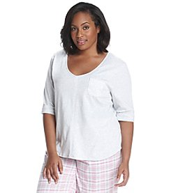 KN Karen Neuburger Plus Size V-Neck Lounge Top