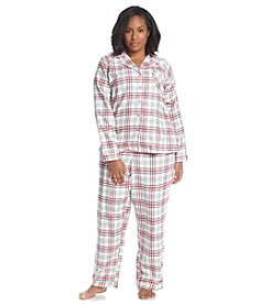 Intimate Essentials® Plus Size Notch Collar Pajama Set