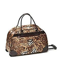 Kathy Van Zeeland® Cheetah Wheeled Duffel