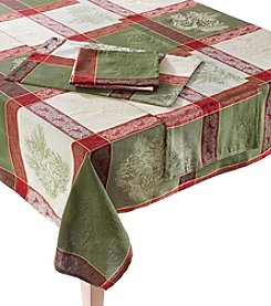 LivingQuarters Winter Forest Table Linens