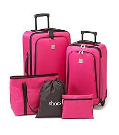 Relativity® Fuchsia Expandable 5-pc. Luggage Set