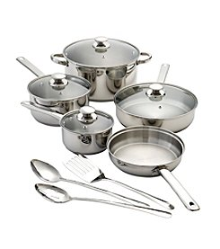 Chef's Quarters 12-pc. Stainless Steel Cookware Set