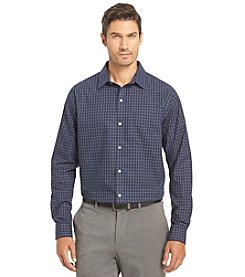 Van Heusen® Men's Long Sleeve Traveler Micro Check Button Down