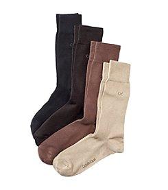 Calvin Klein Men's 4-Pack Crew Socks