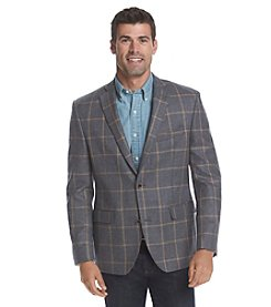 Tallia Orange Men's Windowpane Pattern Sport Coat