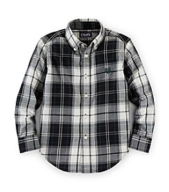 Chaps® Boys' 2T-7 Long Sleeve Plaid Woven Top